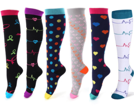 cheap for sale buy online discount sale Designer Compression Socks - Support Stockings ~ Reduce Swelling!