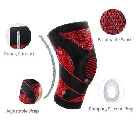 Knee Brace Compression Sleeve with Patella Stabilizer & Adjustable Straps