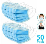 Health Face Mask - 3 Layer Protection ~ 50 pack!
