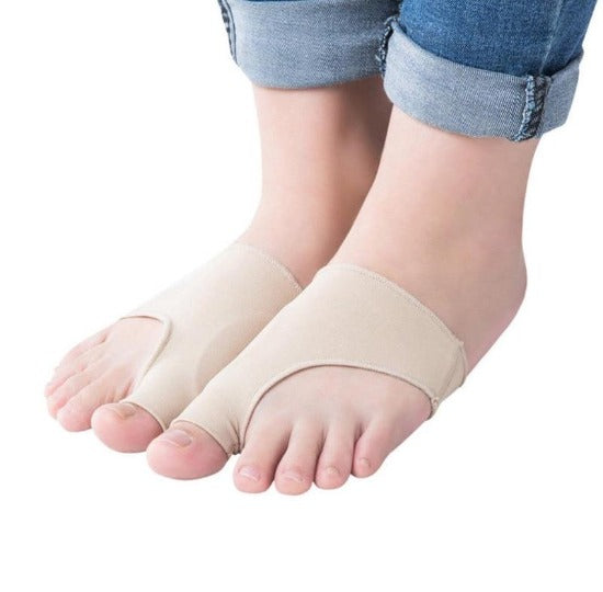 Padded Bunion Protecting Foot Sleeves - Big Toe Corrector Straightner - Pair - Affordable Compression Socks