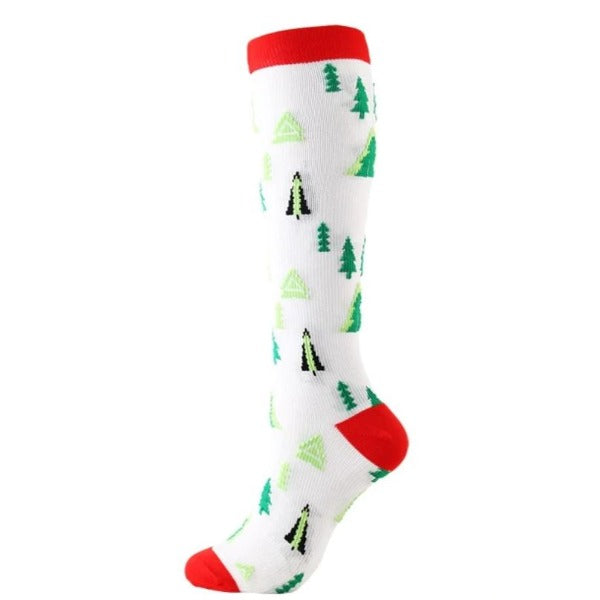 Christmas Time Compression Socks - 20-30 mmHg Support Stockings