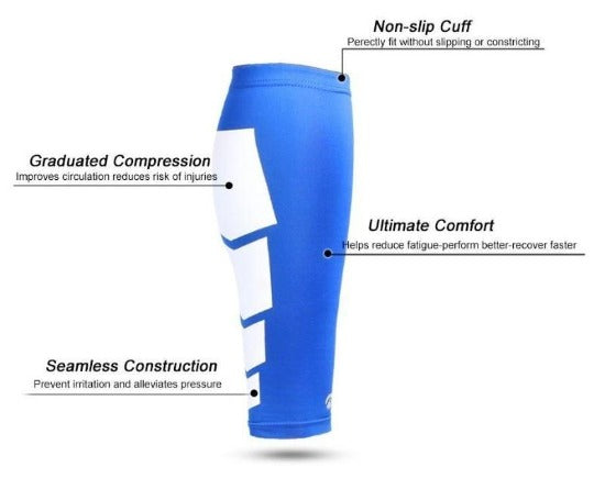 Athletic Calf Neoprene Compression Sport Sleeves (1 Pair) - Affordable Compression Socks