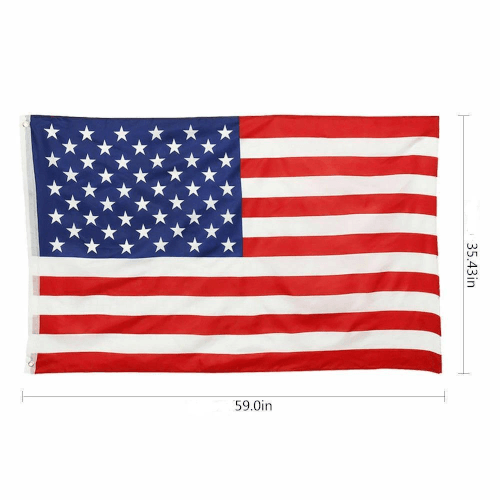 American Flag 3' X 5' ~ With 2 Metal Grommets!
