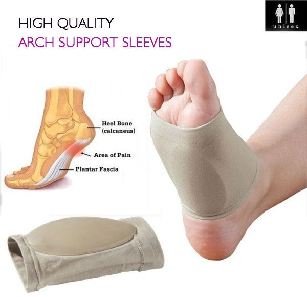 Plantar Fasciitis Arch Support Sleeves Gel Pad Support - Foot & Heal Pain Relief - Affordable Compression Socks