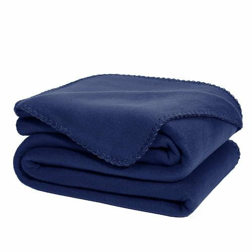 Blue Fleece Blanket Queen Size