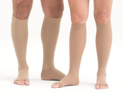 Open Toe Knee High Compression Socks - Easy to Put On Graduated Stockings - Affordable Compression Socks