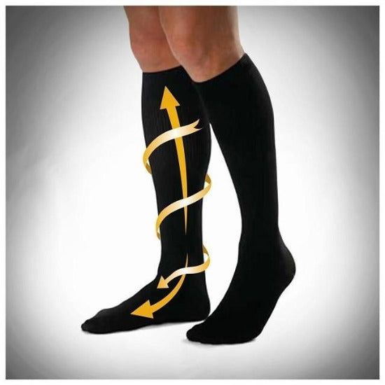 Graduated Compression Socks Knee High Stockings 6 Colors (S-XXL) - Affordable Compression Socks
