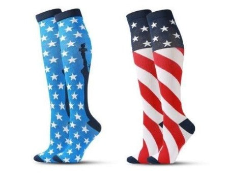 Compression Socks USA Flag