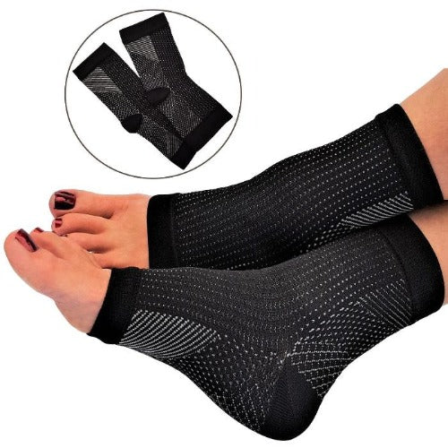Compression Foot Sleeves - Open Toe Socks for Plantar Fasciitis and Arch Pain - Affordable Compression Socks