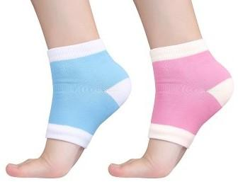 Spa Gel Moisturizing Heel Massaging Socks - Fix Dry & Cracked Feet - Affordable Compression Socks
