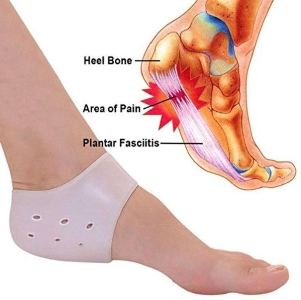 Protective Silicone Sleeve Gel Cups for Plantar Fasciitis & Heel Spurs - Affordable Compression Socks