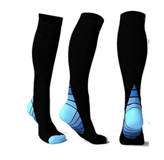 Athletic Fit Sports Compression Socks with Graduated Target Zones - Affordable Compression Socks