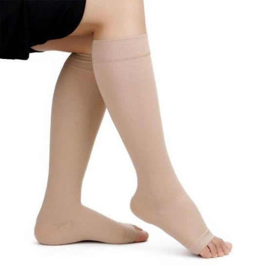 d574ed41162b69 ... Open Toe Knee High Compression Socks - Easy to Put On Graduated  Stockings - Affordable Compression ...