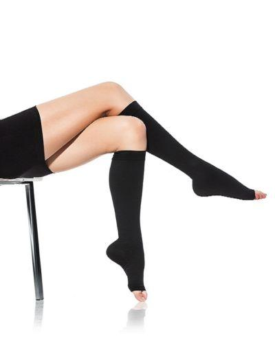 Open Toe Compression Socks - Easy to Put On Toeless Support Stockings!