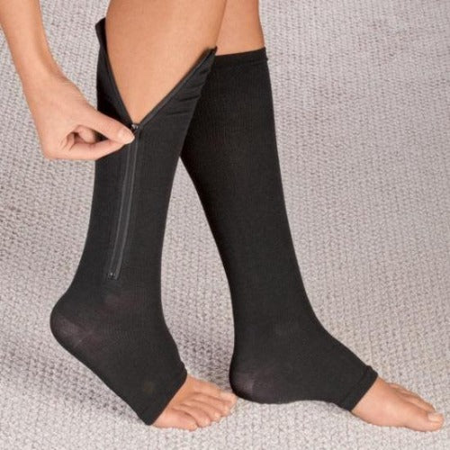 d61f583dc6 Affordable Compression Open Toe Zipper Compression Socks Graduated Stockings  - Zip Up with Ease!