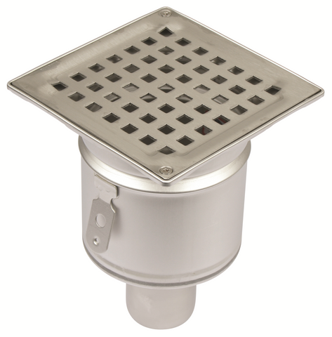 Kleentech Shower Drain Square (50mm Bottom Outlet)
