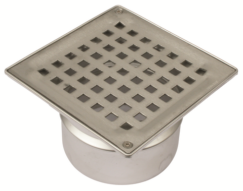 Kleentech Shower Drain Square 145mm