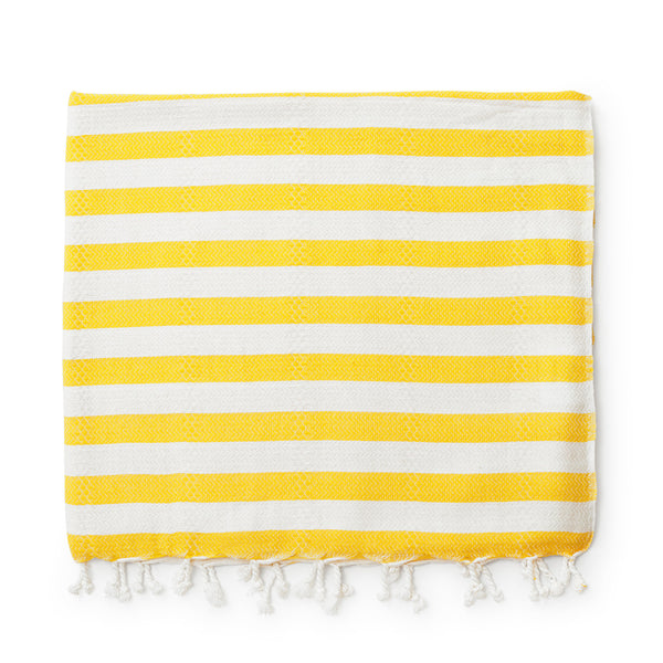 Turkish Beach Towel - Yellow