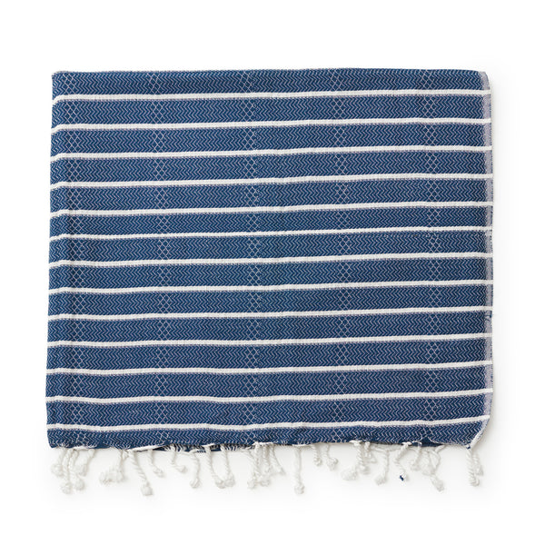 Turkish Beach Towel - Blue Pinstripe