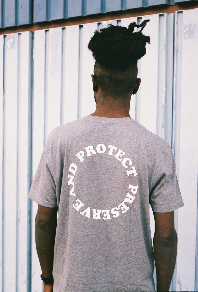 PRESERVE & PROTECT GREY TEE