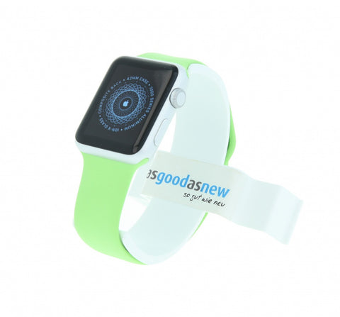 Apple Watch Sport 42mm con correa deportiva verde aluminio plata