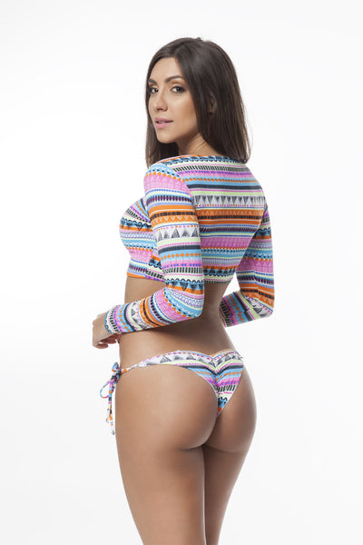Sugar Candy (UV Protection) Long Sleeve Bikini Set