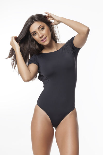 Go Black (UV Protection) Short Sleeve Onepiece