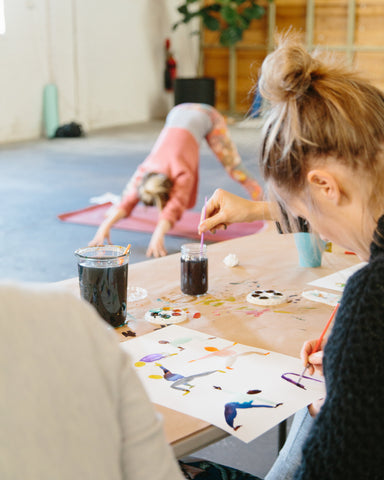 Yoga and Watercolours with Pheobe Phillips + Sarana Haeata