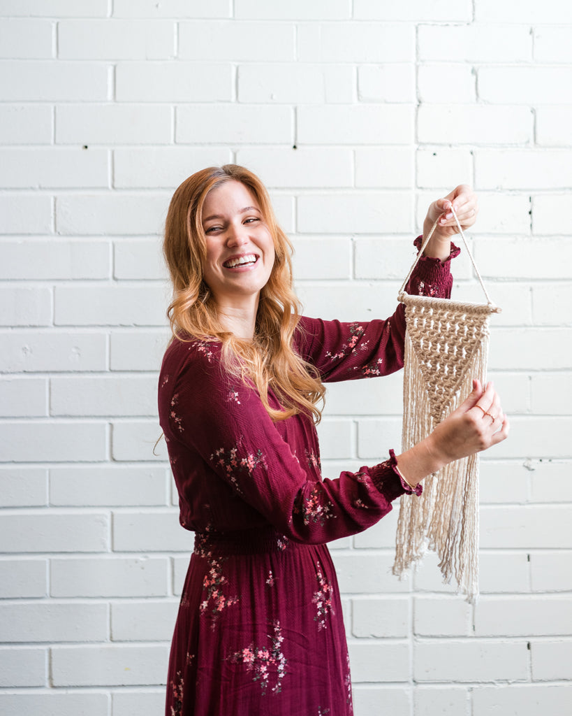 Make Your Own Macrame Wall Hanging with The Hatchling