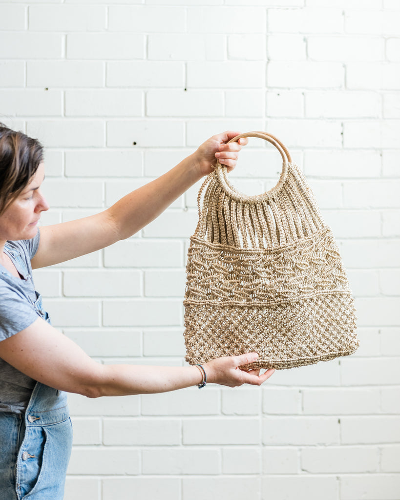Rose Natural Jute Bag