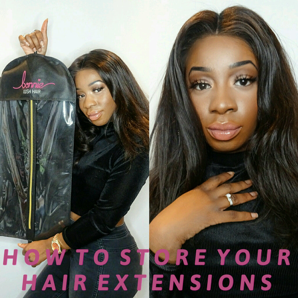 HOW TO STORE YOUR HAIR EXTENSIONS!