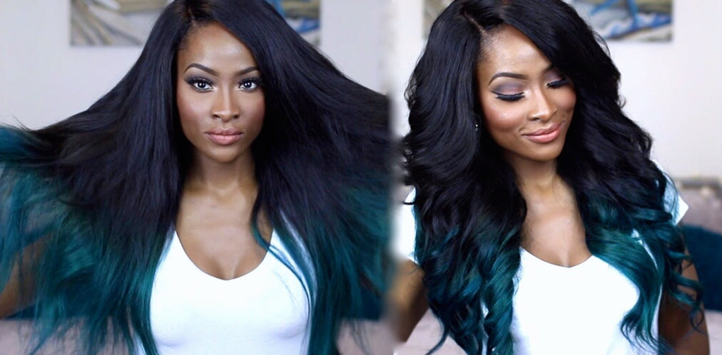 Jennie Jenkins Black & Teal Ombre Hair Tutorial