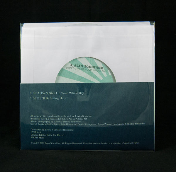 J. Alan Schneider Limited Edition 7″ Lathe Cut Record