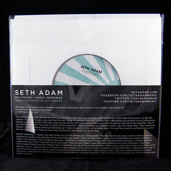 "Seth Adam Limited Edition 7"" Lathe Cut Record"