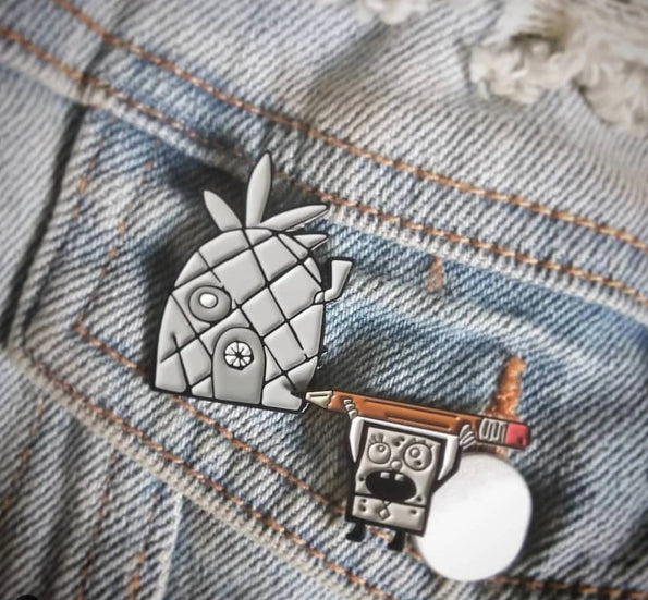 Doodlebob Doodle Pin Pack lapel pin -  A pin from simppins simpsons thesimpins pingame