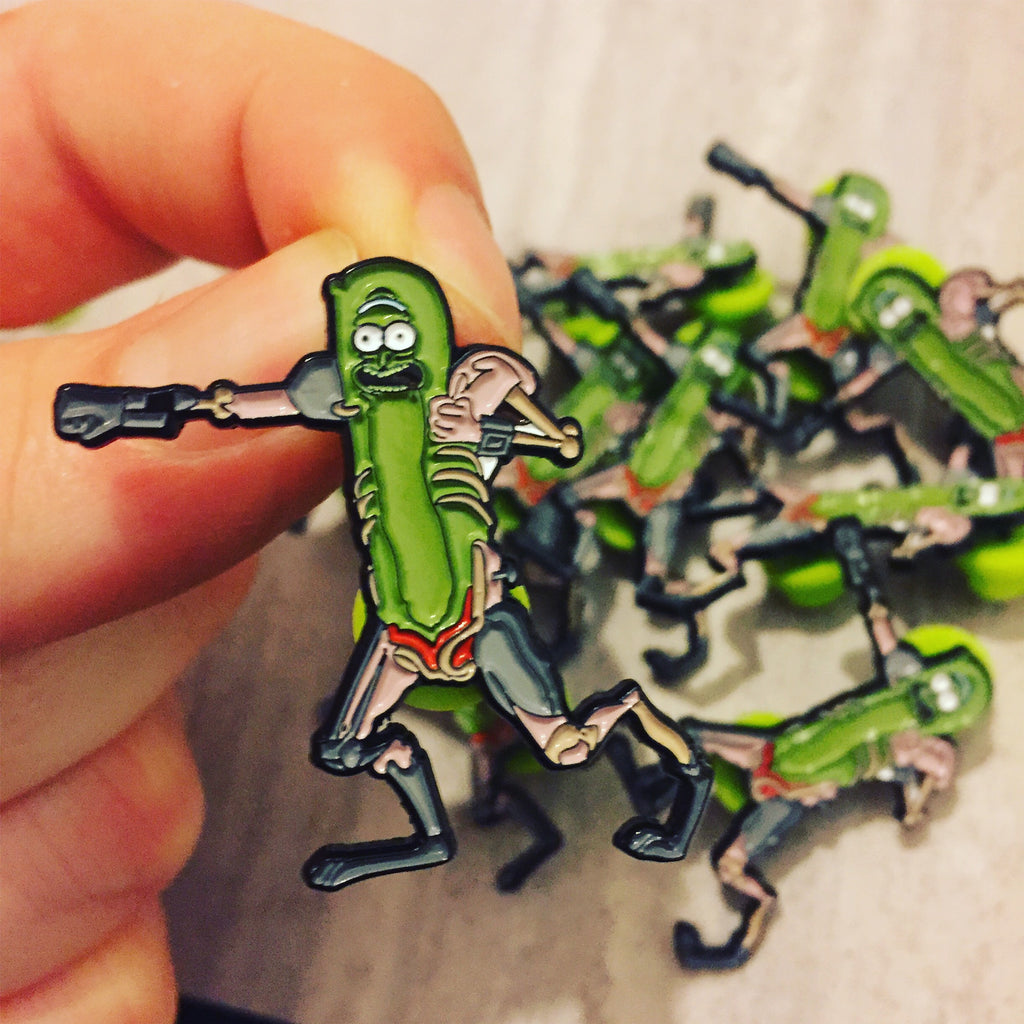 Pickle Rick Solenya Pin lapel pin -  A pin from simppins simpsons thesimpins pingame