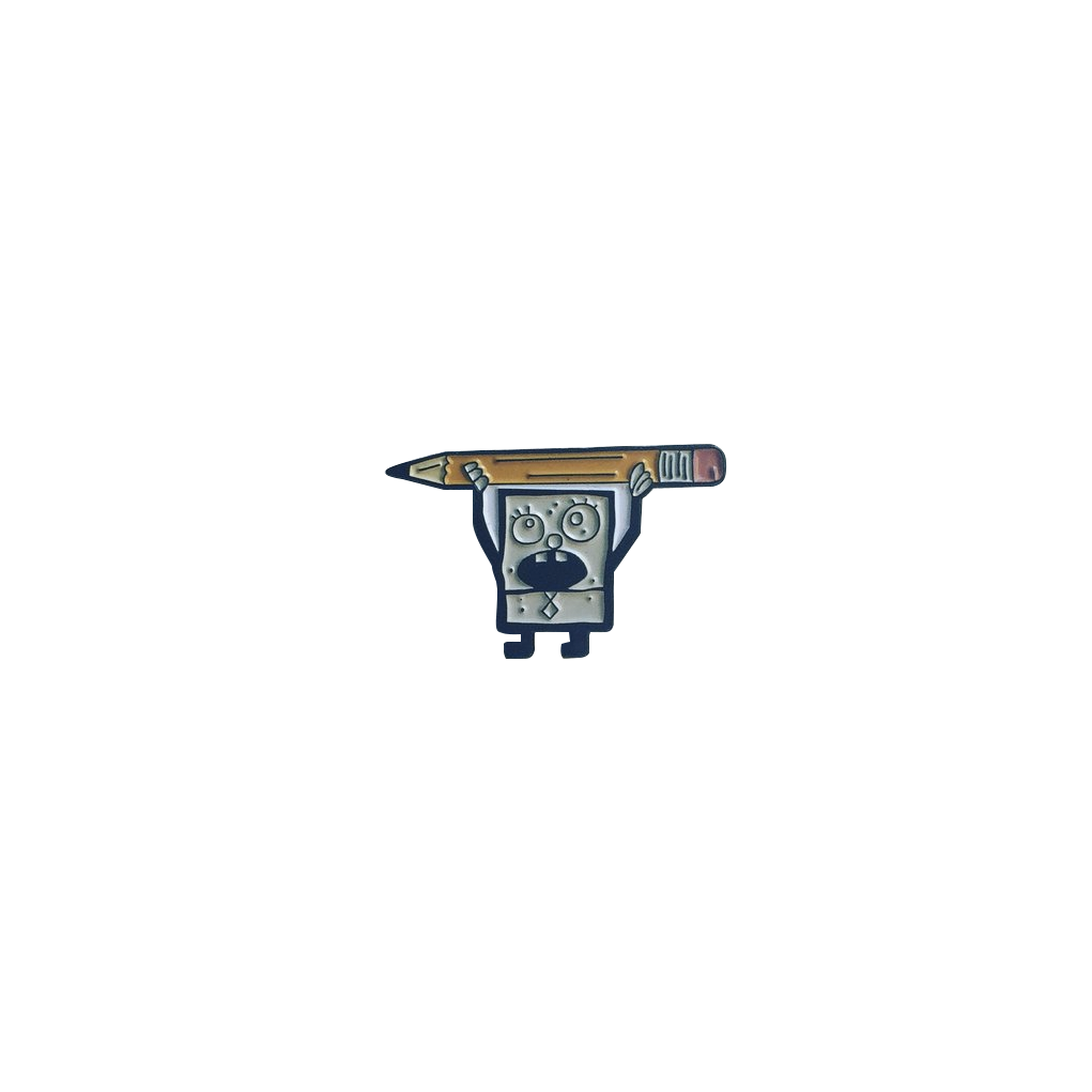Doodlebob Pin lapel pin -  A pin from simppins simpsons thesimpins pingame