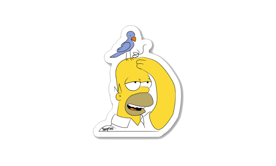 Elephant Fresh Sticker lapel pin -  A pin from simppins simpsons thesimpins pingame