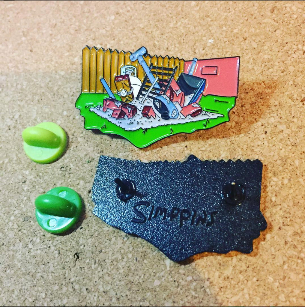 BBQ Le Grille Pin lapel pin -  A pin from simppins simpsons thesimpins pingame