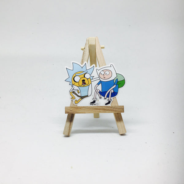 Adventure time x Rick & Morty Sticker lapel pin -  A pin from simppins simpsons thesimpins pingame