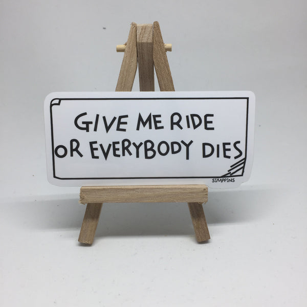 Give Me Ride Sticker lapel pin -  A pin from simppins simpsons thesimpins pingame