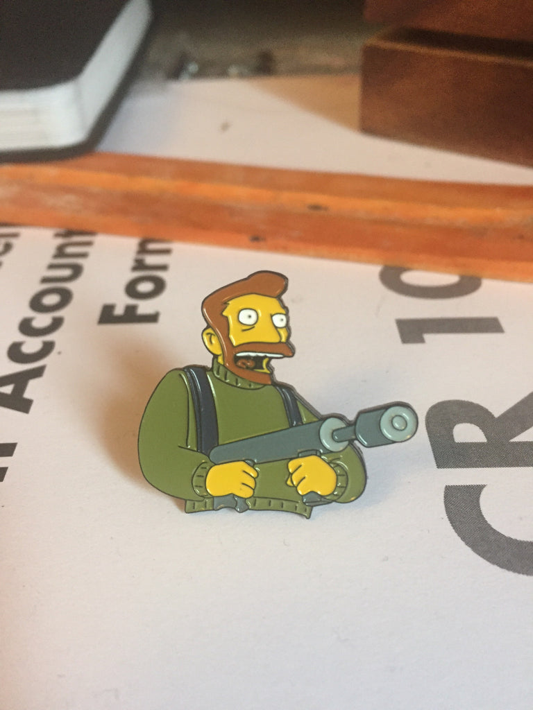 Hank Scorpio Pin lapel pin -  A pin from simppins simpsons thesimpins pingame