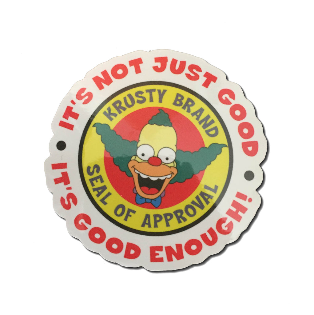 Krusty brand Seal of Approval Sticker lapel pin -  A pin from simppins simpsons thesimpins pingame