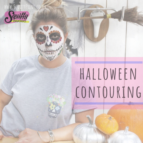 #SquiffyPrint : How to Contour for Halloween (or paint a Sugar Skull)