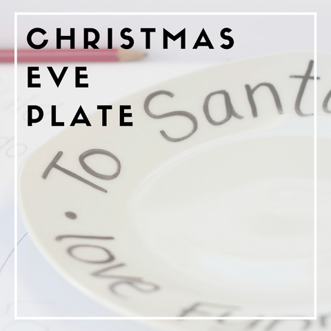 Make your own: Christmas Eve Plate for Santa & Rudolph