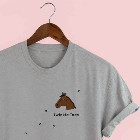 Squiffy print personalised and illustrated horse t-shirt