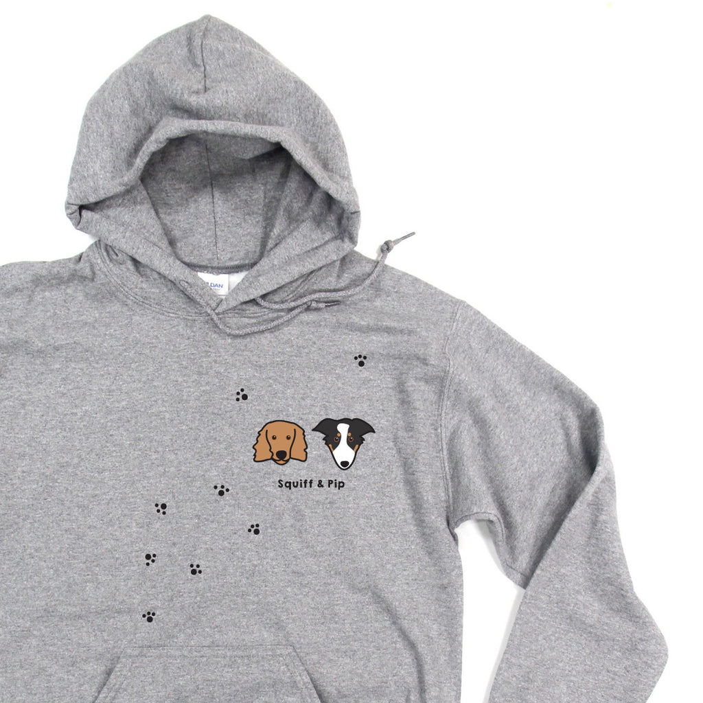 🐶  Squiffy Print Illustrated Dog Hoodie (organic & recycled) 🐶