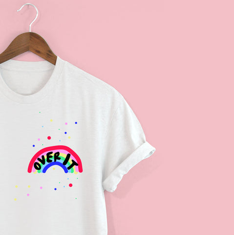 'OVER IT' Rainbow t-shirt