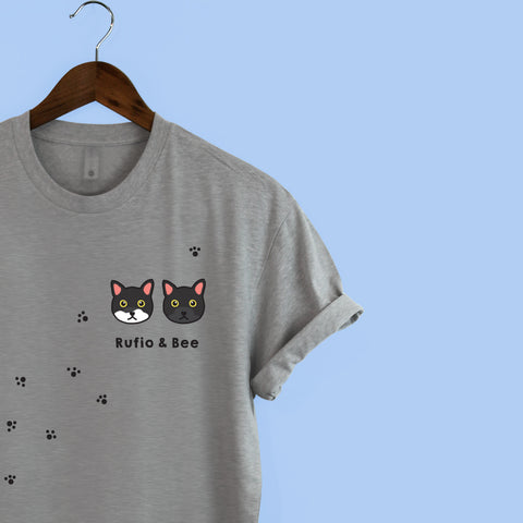 Squiffy Print personalised cat t-shirt
