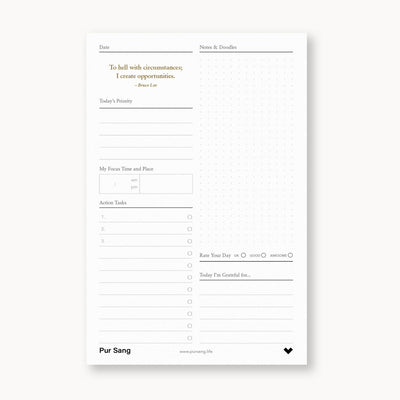 Daily Action Desk Planner - Printable Version